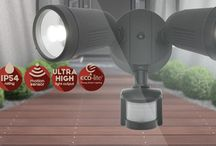 Outdoor Security Lights / Security lights give you the additional peace of mind when securing your property. We offer a wide range of choice from big trusted brands. www.australianlightingandfans.com.au