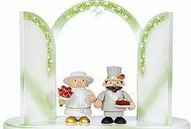 Hochzeits-Dekoration und Accessoires / Machen Sie den schönen Tag des Lebens noch schöner mit hochwertigen Erinnerungsstücken aus dem Erzgebirge