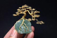 wire bonsai sculpptures