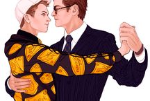 Kingsman: Fan Service / This is all slashy Kingsman art. Go away if that bothers you.