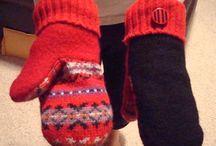 mittens & scarf