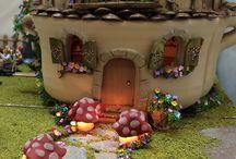 """La Casita de los Ratones / """"Fiesta de Cumpleaños en la Casita de Ratones """" es uno de los últimos trabajos salidos del Taller de Ananda Miniaturas de las manos y el corazón de Pilar Sampietro"""