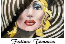 ⊱ Fatima Tomaeva ⊰  / ≻ Fatima Tomaeva ~ Russia 1967 ≺ Fatima Tomaeva after studying at the Academy moved to Italy due to her love of renaissance painting.