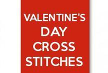 valentine's day cross stitches