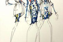 Mote skisser / Desene si schite - crochiuri de moda