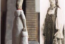 куклы из коряг и ткани