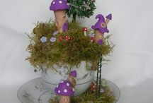 fairy houses made by me / a new fairy scene made by me