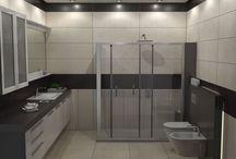 ΣΤΙΛ ΣΕ ΔΥΟ ΤΟΝΟΥΣ / Σχεδιασμός για ανακαίνιση μπάνιου σε κατοικία στην Θεσσαλονίκη. Το μπάνιο έχει διάσταση 3,00 x 3.00 m και επενδύθηκε με πλακάκια του εργοστασίου LaFabrica και πιό συγκεκριμένα από την σειρά Eden με διάσταση 32 x 96 cm.