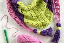 Crochet hat, scarf