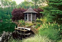 Japan garden arch
