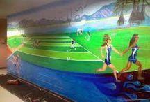 Sporting murals