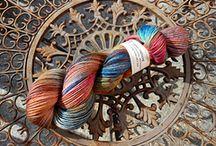 Knallfrösche / Handgefärbte Wolle für Socken, Pullis, Tücher,... 75% Wolle, 25% Nylon Wollwerk
