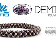 Demi™ Seed Beads by TOHO / New Japanese Seed Beads Demi made by TOHO are a thinner version of the traditional round seed beads but have the same diameter and the same hole size.