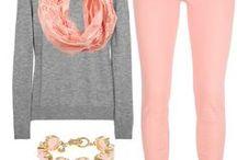 Rosa palo y gris