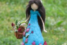 needle felted fairy standing