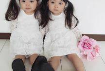 bebês da Junn / gemeas