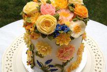 플라워 케이크