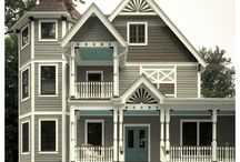 Exterior Paint Color Ideas / What paint colors look good on what style homes. Historically correct exterior paint combinations