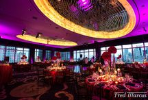 Red Hot Wedding Party at Mandarin Oriental Hotel / All about red hot floral decor and wedding party at Mandarin Oriental Hotel New York
