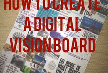 Vision Board Inspiration / A vision board is a great way to keep you motivated to reach your long term goals. It helps me visualize the reasons I work hard to stick to a budget!