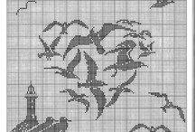 Cross stitch monocolor