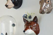 ceramics animals etc.