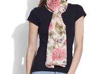 Cotton Printed Voile Scarf- Women / Take a break from your everyday clothing and sweeten up your style with our charming cotton printed voile scarf. Add Pretty touches to your outfits with our cute printed scarves.