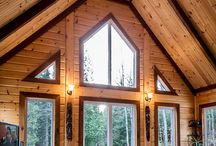 Warm Winter Cabins / Log cabins are beautiful homes all-year round, but they become magical during the winter. Seek warmth in these welcoming cabins and pin your favorites!