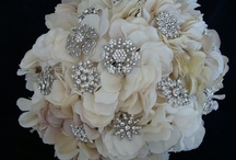 Brooch bouquets - silver