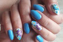 My homemade hybrid nails ❤ Tina