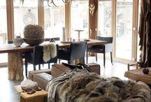 Skiing house