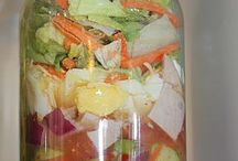 Salads / Mason Jar Salads / by Ami Shirley
