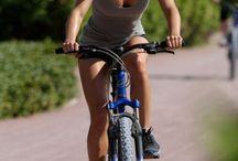 Girl n bicycle