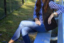 fall and gingham