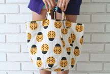 Bag M A N I A / cotton/canvas/linen// FABRIC BAGS / by Fernanda Batista-Sanchez