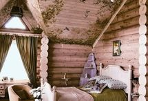 Pretty log bed for girls