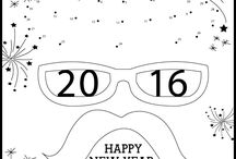 *coloring pages - new year