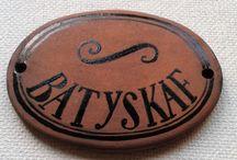 Ceramic sign on the door (Keramické cedulky na dveře) / Ticket A ceramic label  Sign on the door