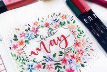 Bullet Journal / Handlettering