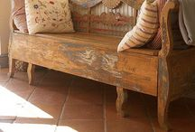 Primitive antique furniture