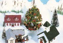 Hímzett karácsonyi házikó leírással sablonnal. 2.