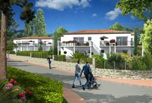 Les Carrelets / 22 logements du T2 au T3 avec terrasses et jardins privatifs à proxilité des commerces, des plages etdes sites troglodytes en hyper-centre, à 20 minutes de Royan et 1h30 de Bordeaux.