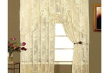 Ivory Lace Sheer Curtains & Valances