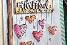 Bullet Journal GRATIDÃO / Ideias para somar e fazer páginas de gratidão belíssimas...