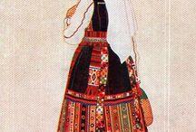 Balkan  kostuums / Klederdracht ui de balkan