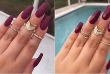 Wine Colored Nails | Wine Themed Nails (Maroon, Burgundy)