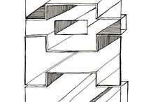 Constructs / Ink Drawings