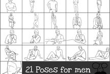 Pose for man