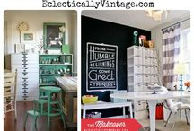 Craft Rooms / Ideas for organizing and decorating a fun and functional craft and sewing room