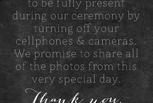 "Unplugged Wedding - Live In The Moment / ""Living In The Moment"" is something we all find hard to do being as ""connected"" with our devices as we are. Making this celebration a time to be free of the connection is our wish for you."